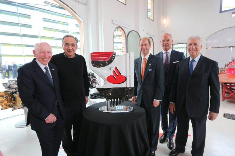 Prince Edward visits Ferrari